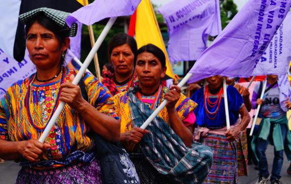 Organisationen Waqib'Kej protesterar mot korruption 2015-05-16 Guatemala city. Foto Anna Nylander