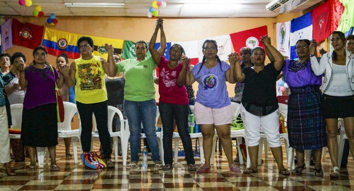 La Escuela Continental de Mujeres de la CLOC-Vía Campesina, Nicaragua, 2016. Foto: Sori Lundqvist