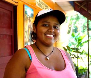 Karen Cañas från Colombia. Foto Sori Lundqvist.