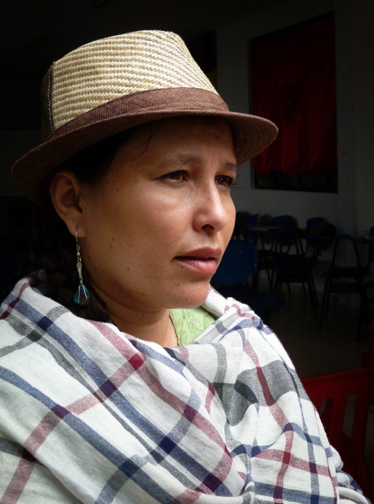 Dana Roáo Avila Lozano, rektor på Instituto Agroecológico María Cano i Colombia. Foto: Hanna Helander