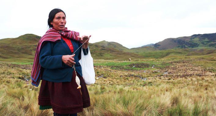 Den peruanska miljöaktivisten och gruvmotståndaren Máxima Acuña. Foto: Jorge Chavez Ortiz