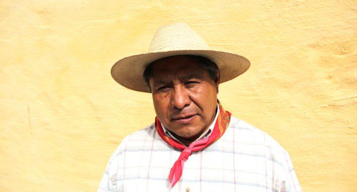José Luis Fernández är urfolksledare i sitt samhälle San Francisco Xochicuautla och representant i Mexikos nationella urfolkskongress. Foto: Sigrid Petersson