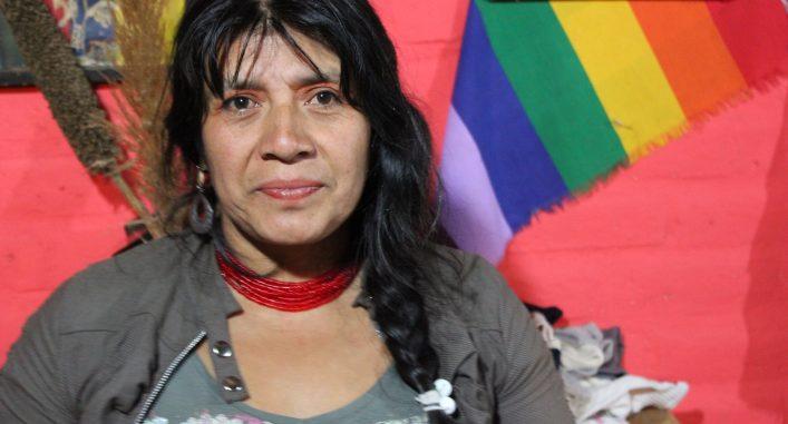 Esther Yumbay leder en förening för urfolks rättigheter i Ecuador. Foto Elli Viljanen.