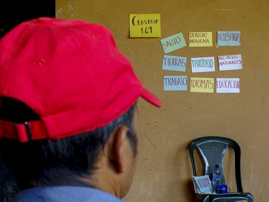 Seminarium om FN:s konvention ILO 169 om urfolks rättigheter i Ixilregionen, Guatemala. Foto: Sori Lundqvist